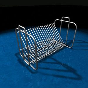 3d model of cd rack