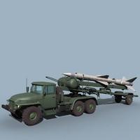 3d model ural sa-2 loader