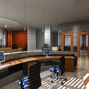 office reception 3d max