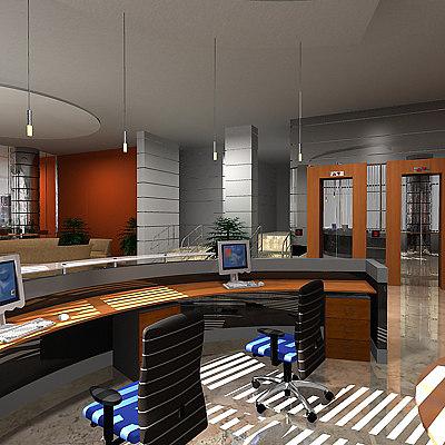 office reception 3d max