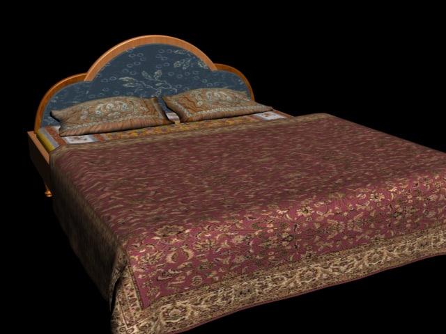 3d indian bed furniture