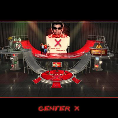 3d model of tv studio