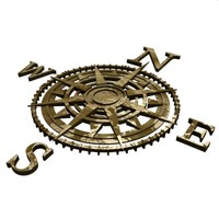 compass rosebud 3d model