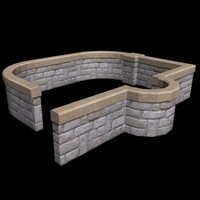 3D Stone Railing Collection #1