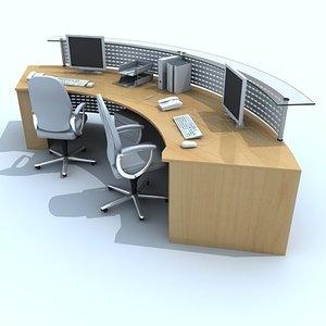 3ds max reception desk