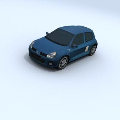 3d model renault clio v6 vehicle car