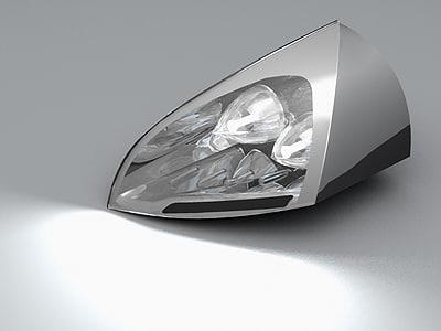 mitsubishi concept-e car headlight 3d model
