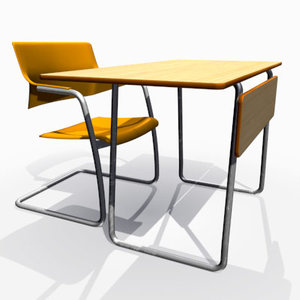 3dsmax school desk