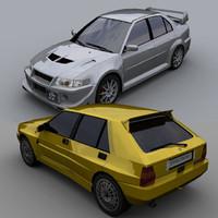 3d pack car lancia delta model
