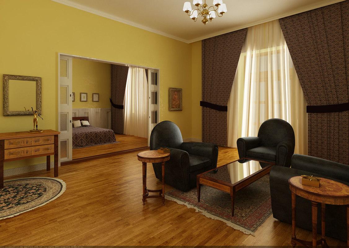 apartment room 3d model