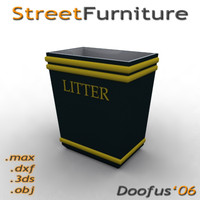 3ds max street furniture
