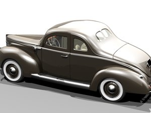 street rod 1940 3d model