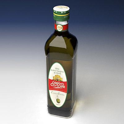 bottle olive oil 3d model