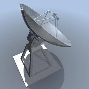 3d satellite dish model