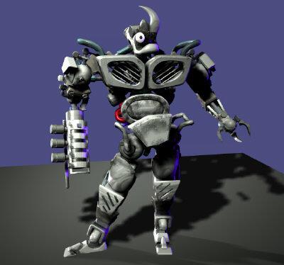 robots cyborg 3d obj
