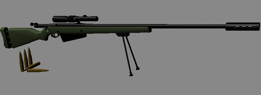 free m169 anti-materiel rifle 3d model
