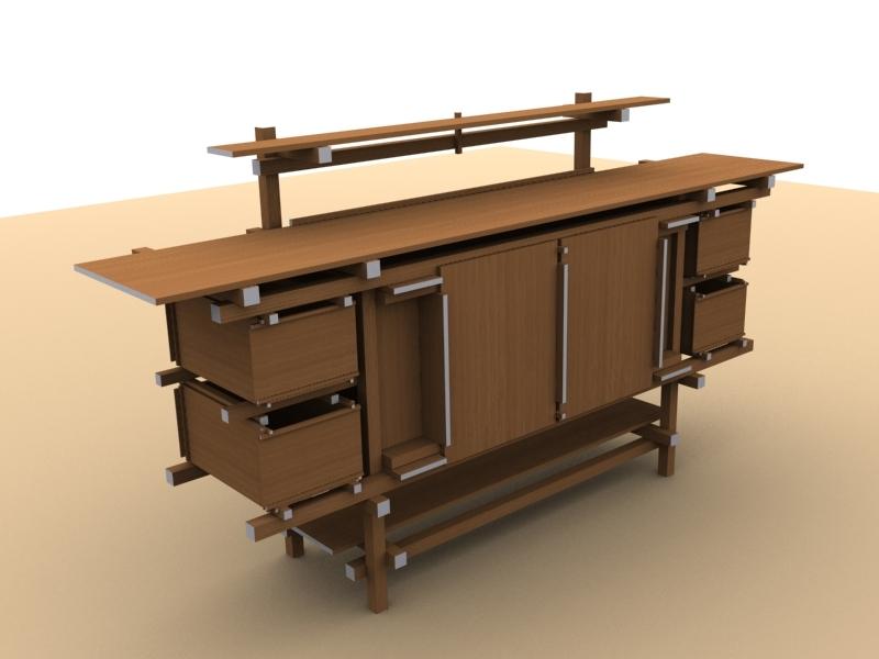 gerrit rietveld buffet 3d model