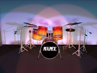 3d model kit drum sets