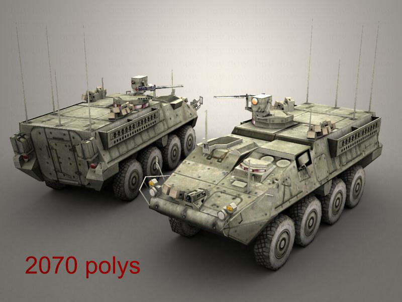 openflight army stryker rv 3d model