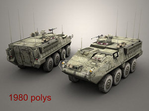 gaming openflight army stryker 3d model