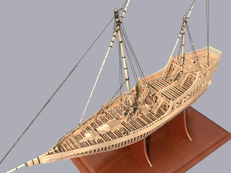 3ds max sail ship frame