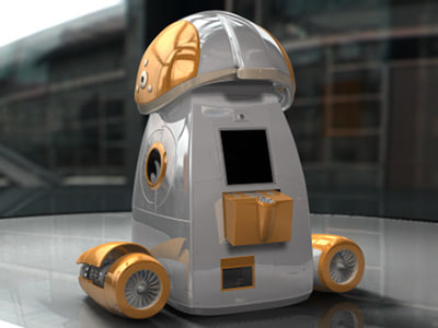 3d concept service robot model