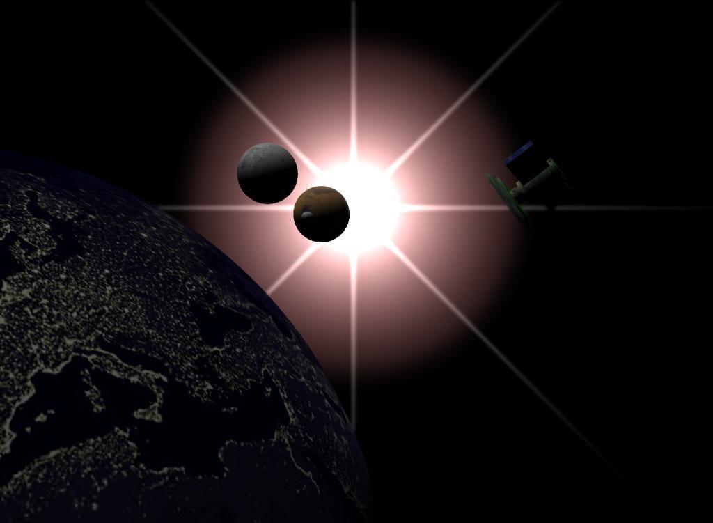 planets mars earth 3d model