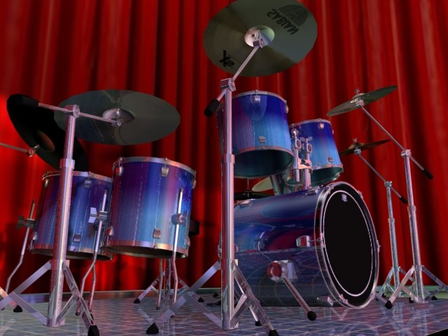 3d model kit 4000 series drum sets