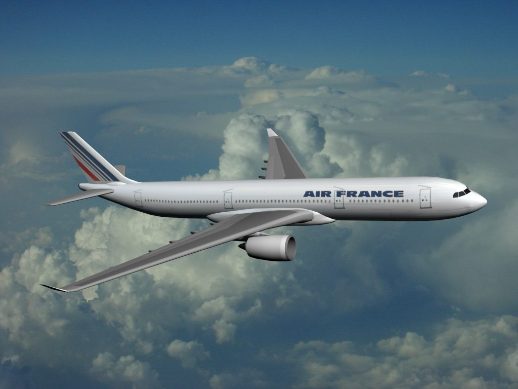 airbus industrie a350-900 air france 3d model