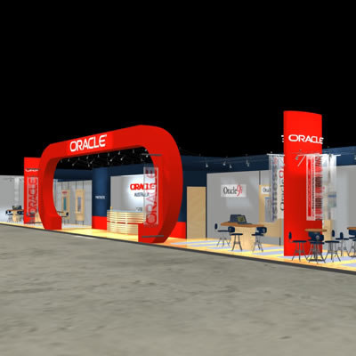 3d model oracle fair stand exhibition