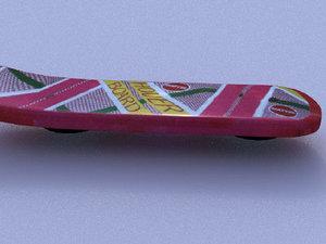 3d hoverboard board hover model