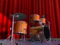 3d model compact drum sets
