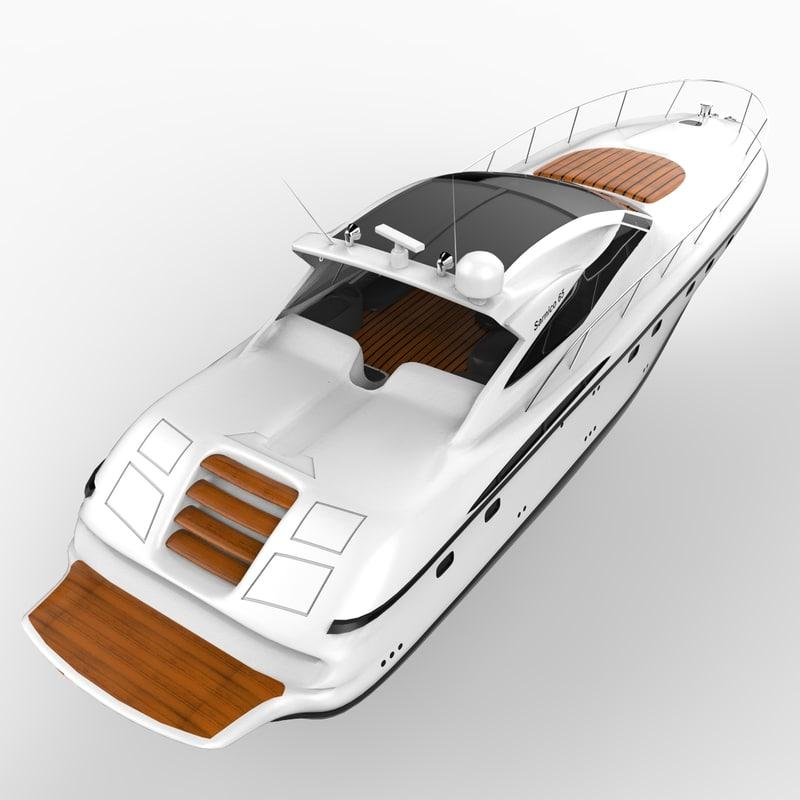 sarnico 65 yacht boat 3ds