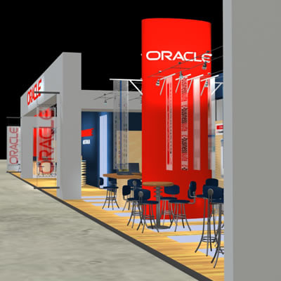 oracle fair stand exhibition 3d model
