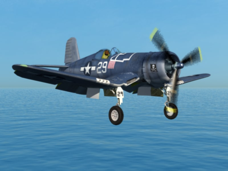 3d corsair fighter aircraft