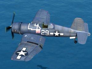 corsair fighter aircraft 3d 3ds