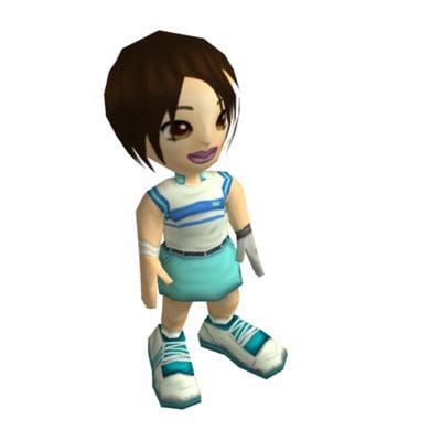maya girl rigged games