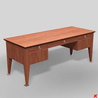 3d model desk writing