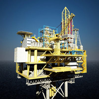 3d max oil rig tanker ship