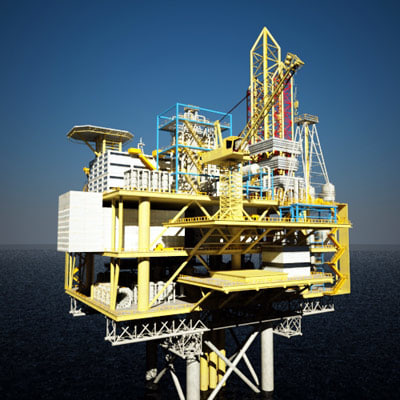 3d max oil rig tanker ship