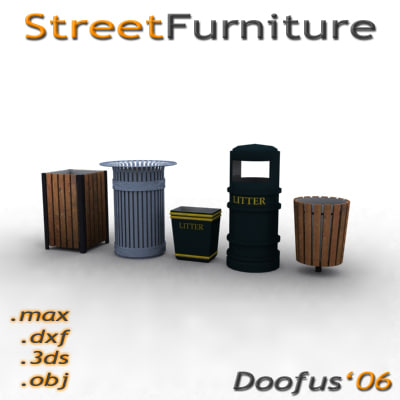 street furniture - 3d model