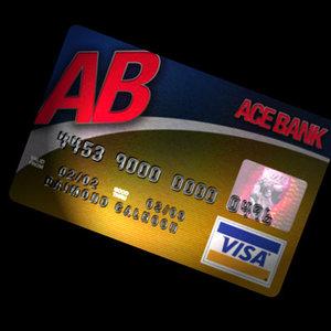 credit card hologram 3d obj