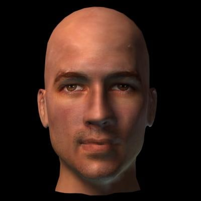 3d photorealistic man head model
