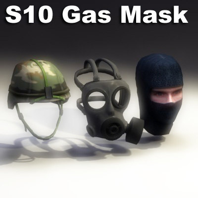 s10 gas mask 3d max