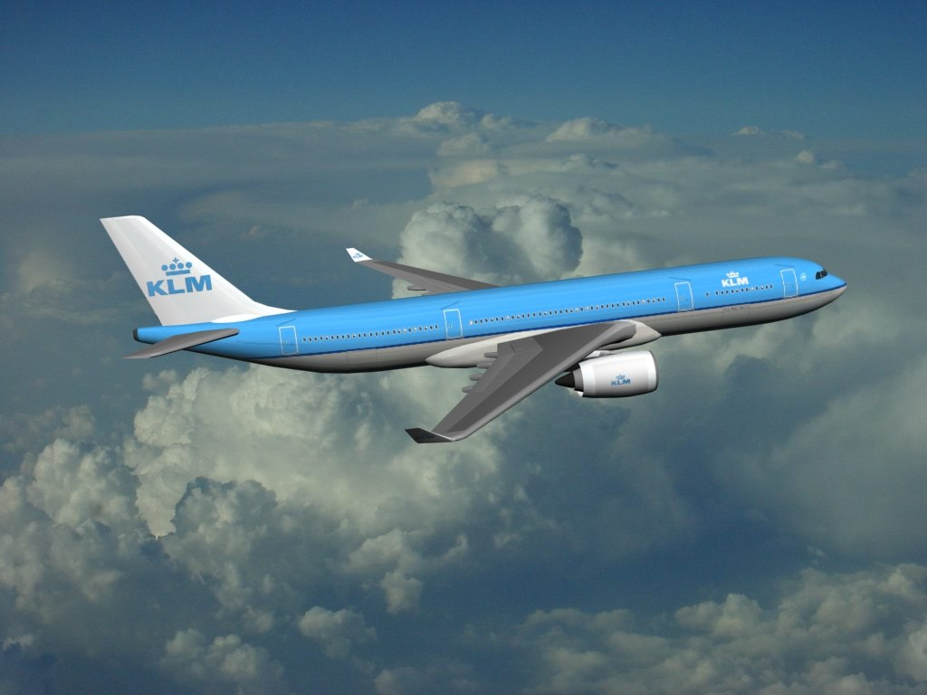 airbus industrie a350-800 klm 3d model