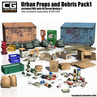 Urban Props and Debris Pack 1