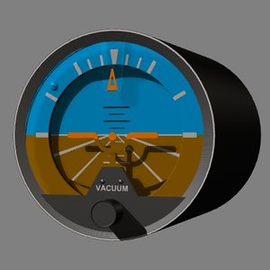 3d ai atitude indicator artificial horizon