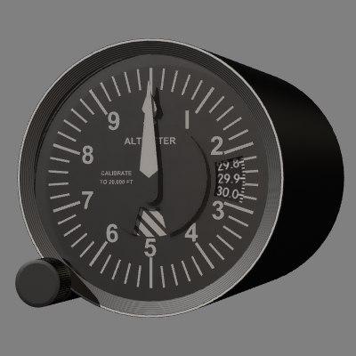 altimeter instrument 3d model