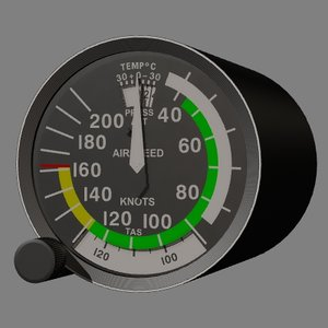 3d asi airspeed indicator instrument model