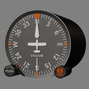 dg directional gyro compass 3d model